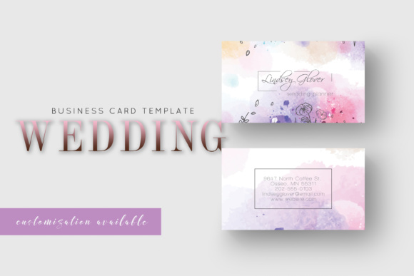 Wedding business card graphic by awesome templates creative fabrica wedding business card friedricerecipe Images