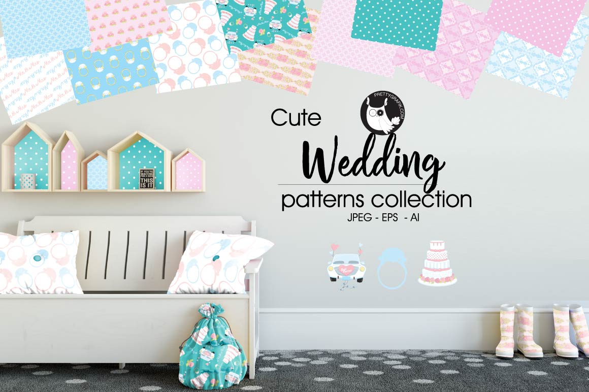 Print on Demand: Wedding Graphic Patterns By Prettygrafik
