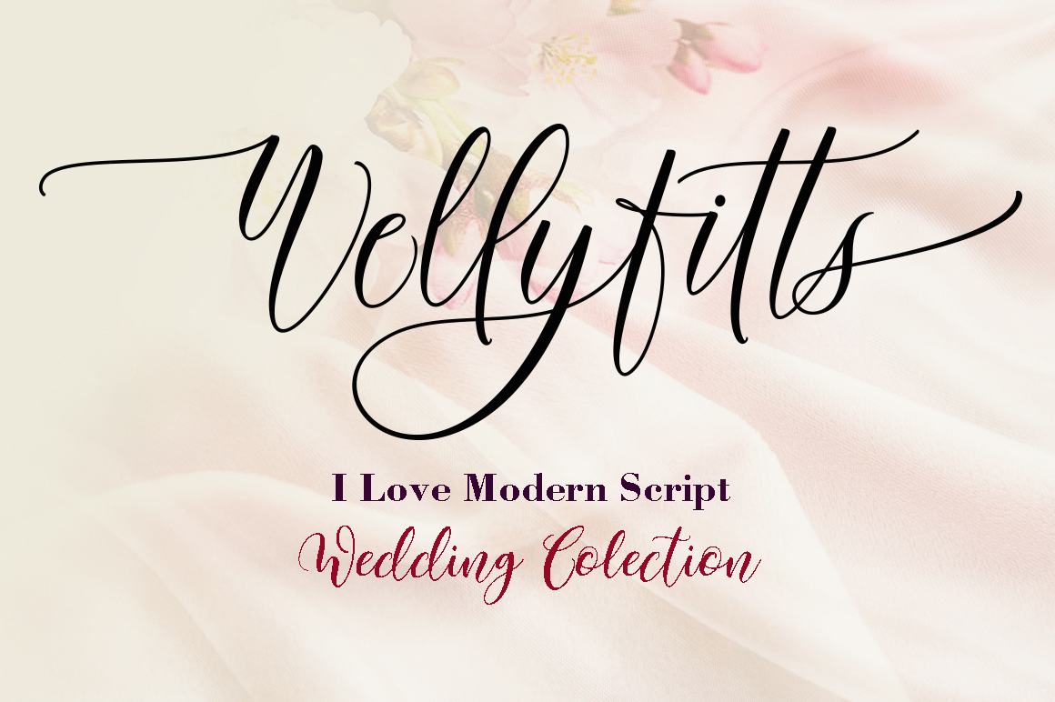 Print on Demand: Wellyfitts Script & Handwritten Font By YanIndesign
