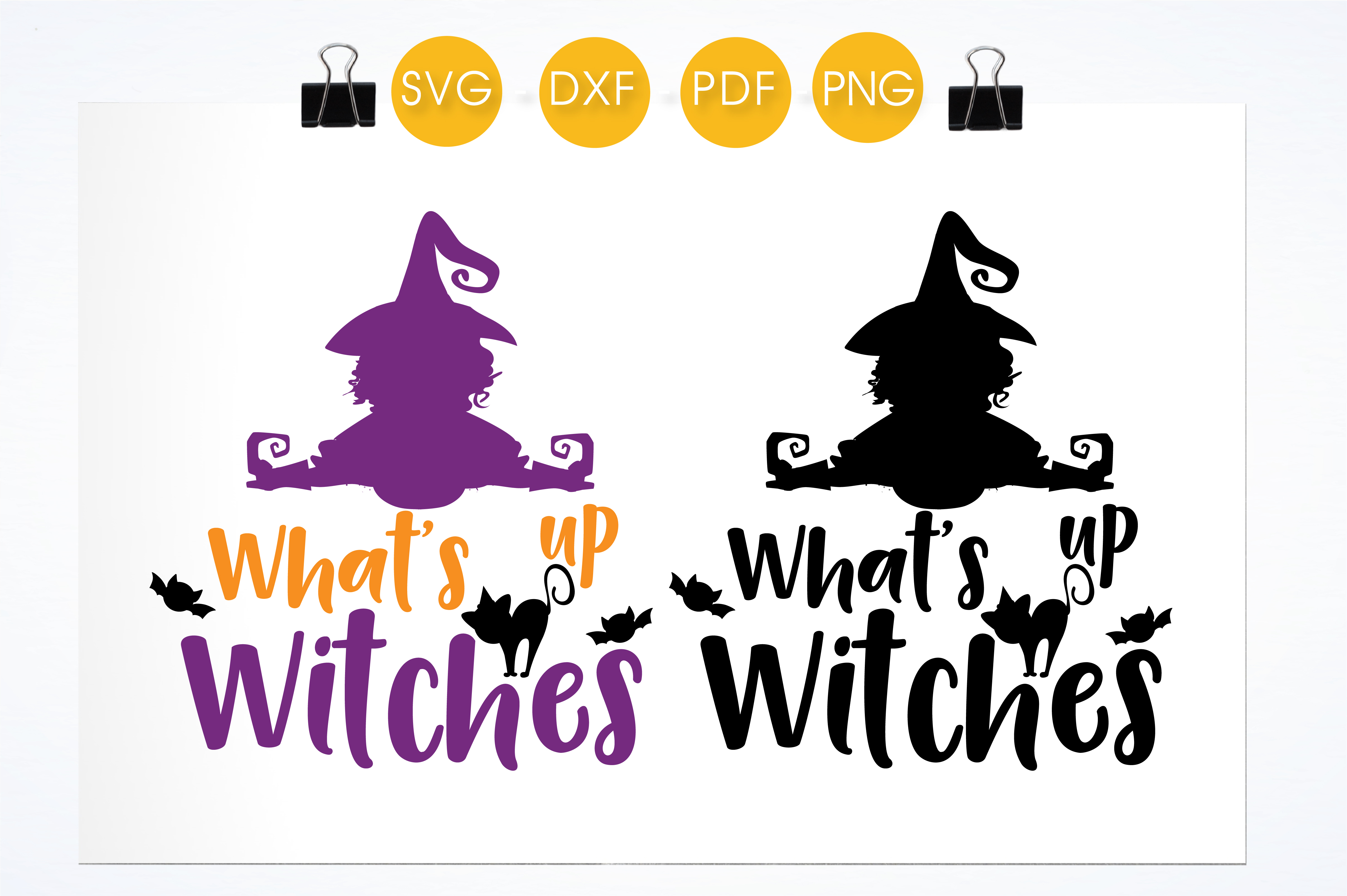 What's Up Witches Graphic Crafts By PrettyCuttables - Image 2