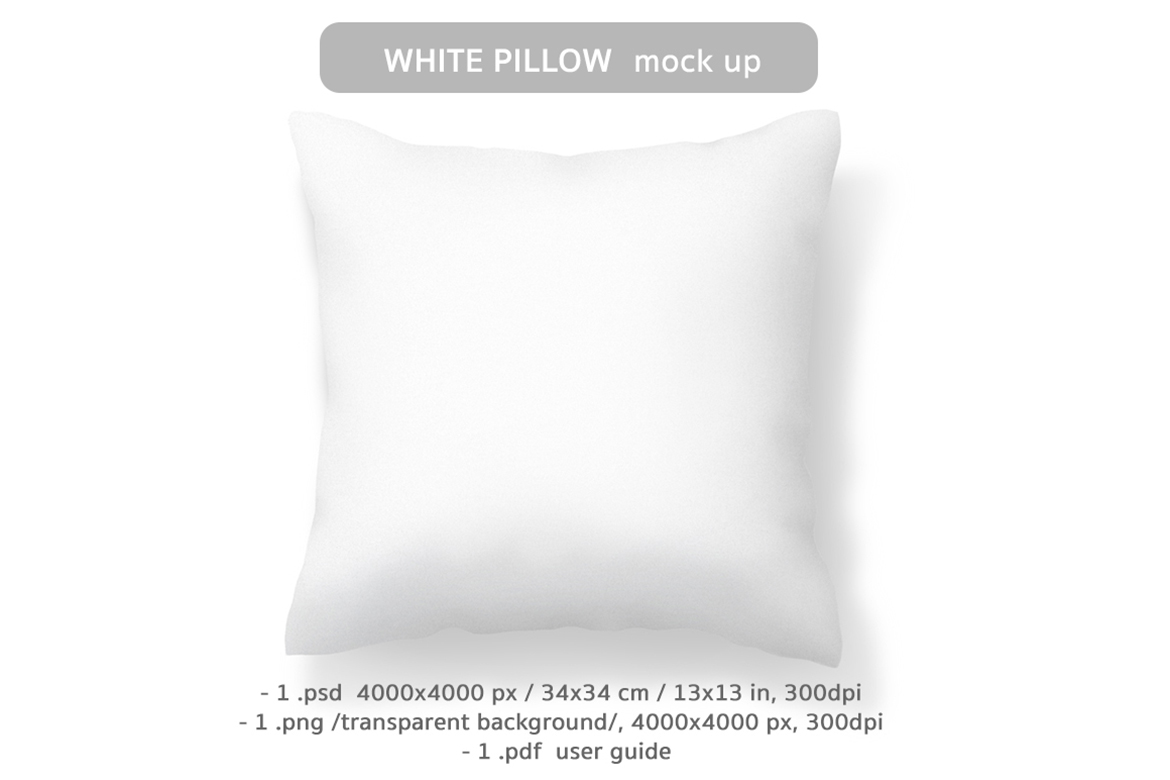 White Pillow Mockup Graphic Product Mockups By digitalartwork