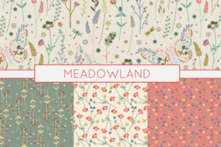 Print on Demand: Wild Flower Patterns - Butterflies - on the Meadow - Prairie Graphic Patterns By illuztrate