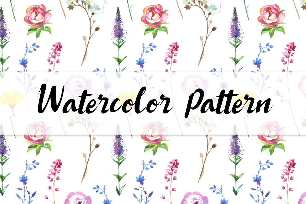 Print on Demand: Wild Flowers Watercolor PNG Clipart Graphic Illustrations By MyStocks - Image 5
