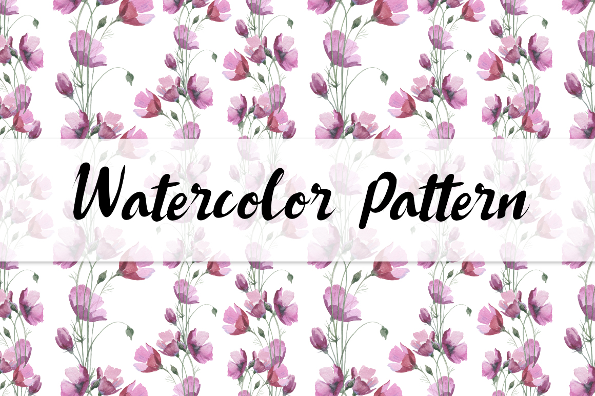 Print on Demand: Wild Flowers Watercolor PNG Clipart Graphic Illustrations By MyStocks - Image 6