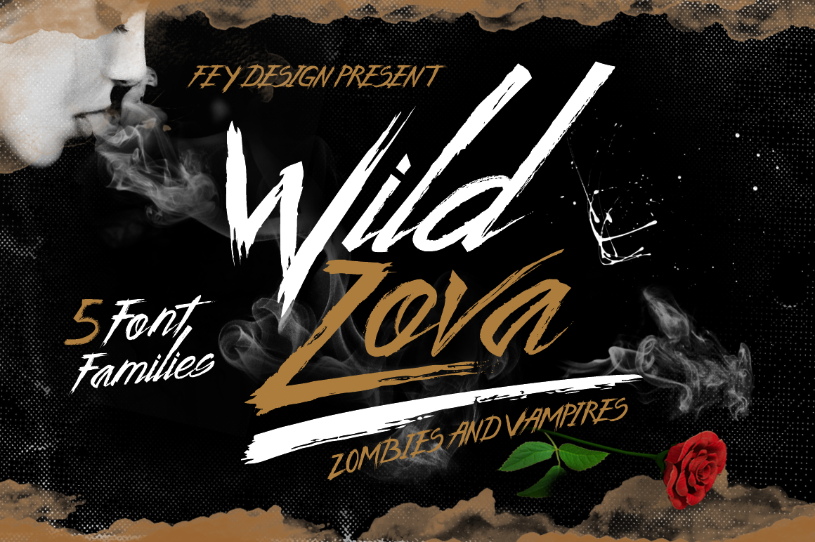 Print on Demand: Wild Zova Script & Handwritten Font By feydesign