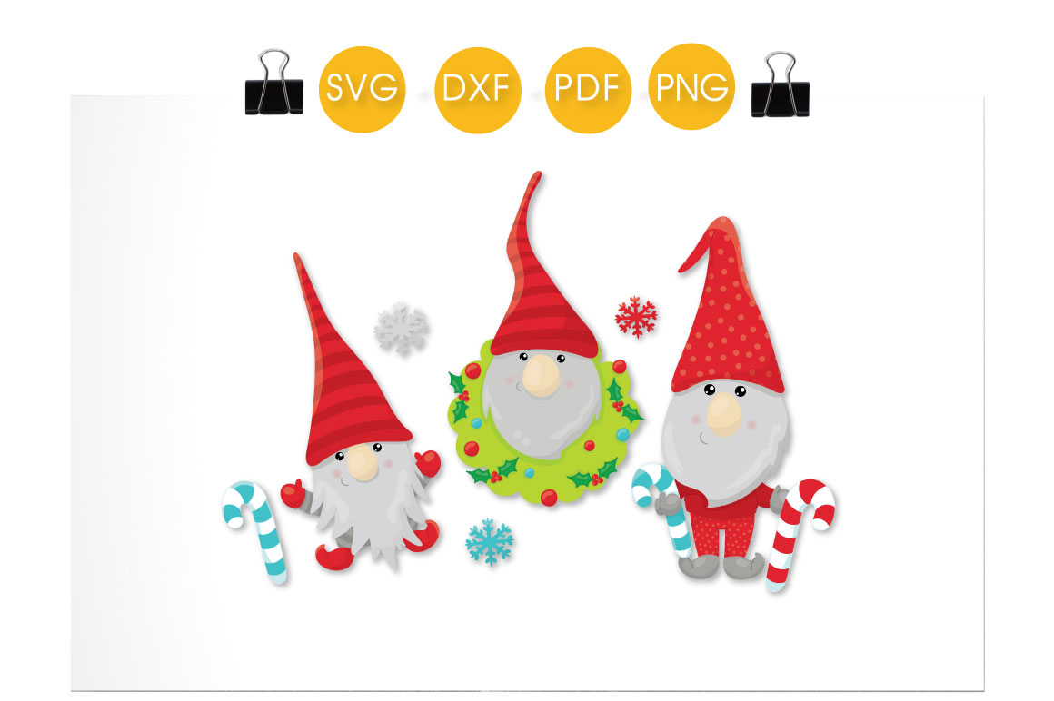 Download Free Winter Christmas Gnomes Grafico Por Prettycuttables Creative for Cricut Explore, Silhouette and other cutting machines.