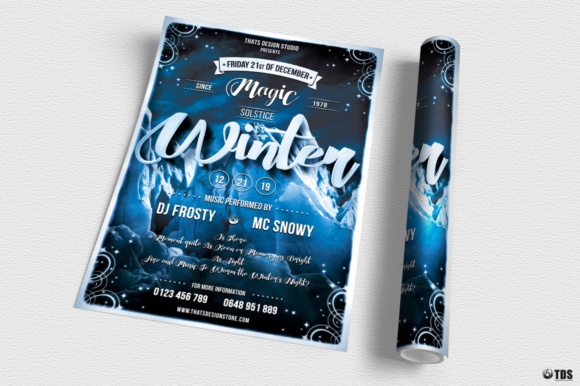Winter Season Flyer Template V1 Graphic Print Templates By ThatsDesignStore - Image 3