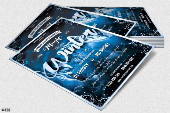 Winter Season Flyer Template V1 Graphic Print Templates By ThatsDesignStore - Image 4