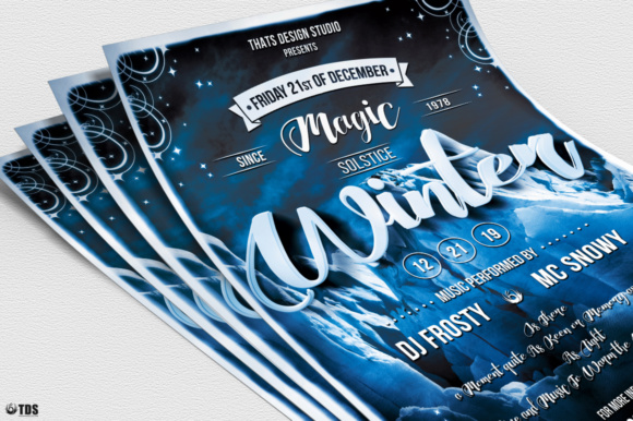 Winter Season Flyer Template V1 Graphic Print Templates By ThatsDesignStore - Image 5