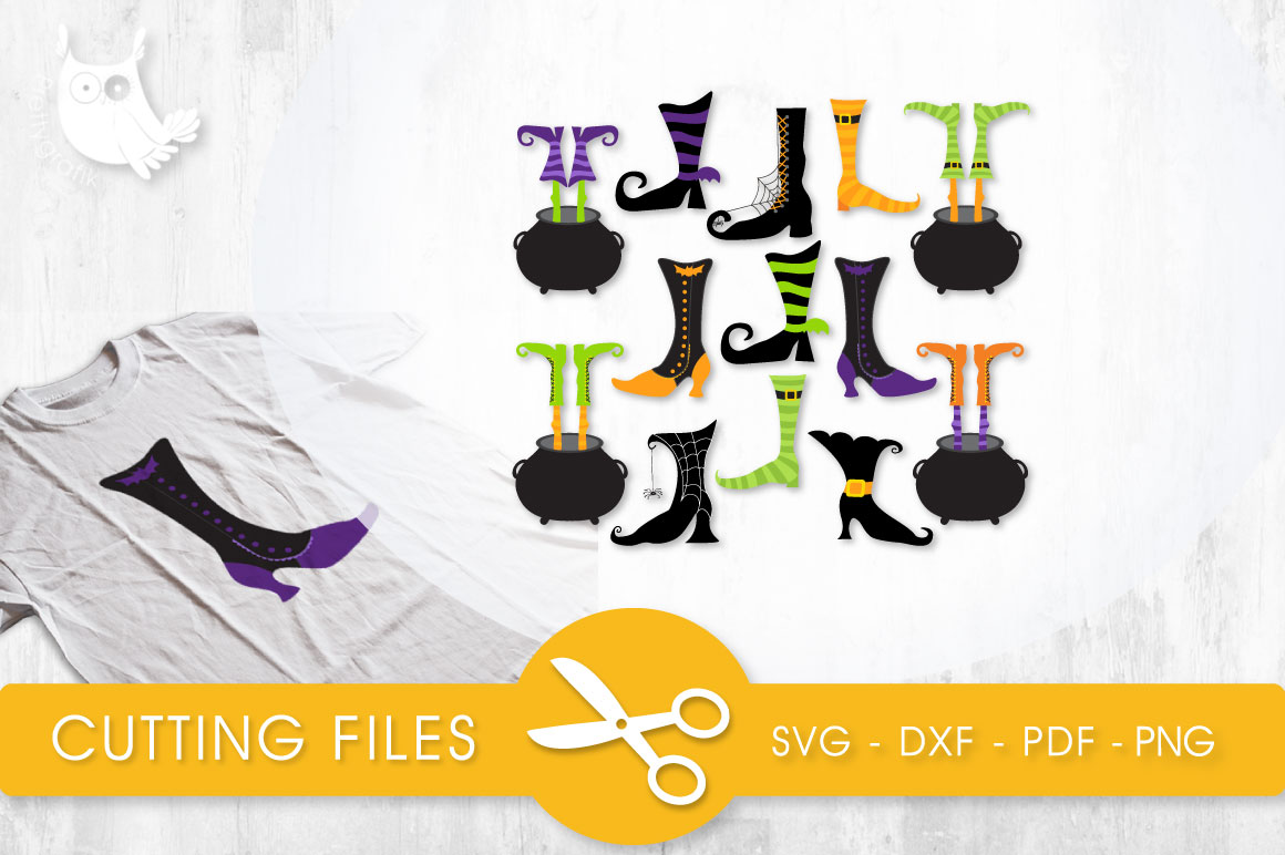Witch Boots Graphic Crafts By PrettyCuttables