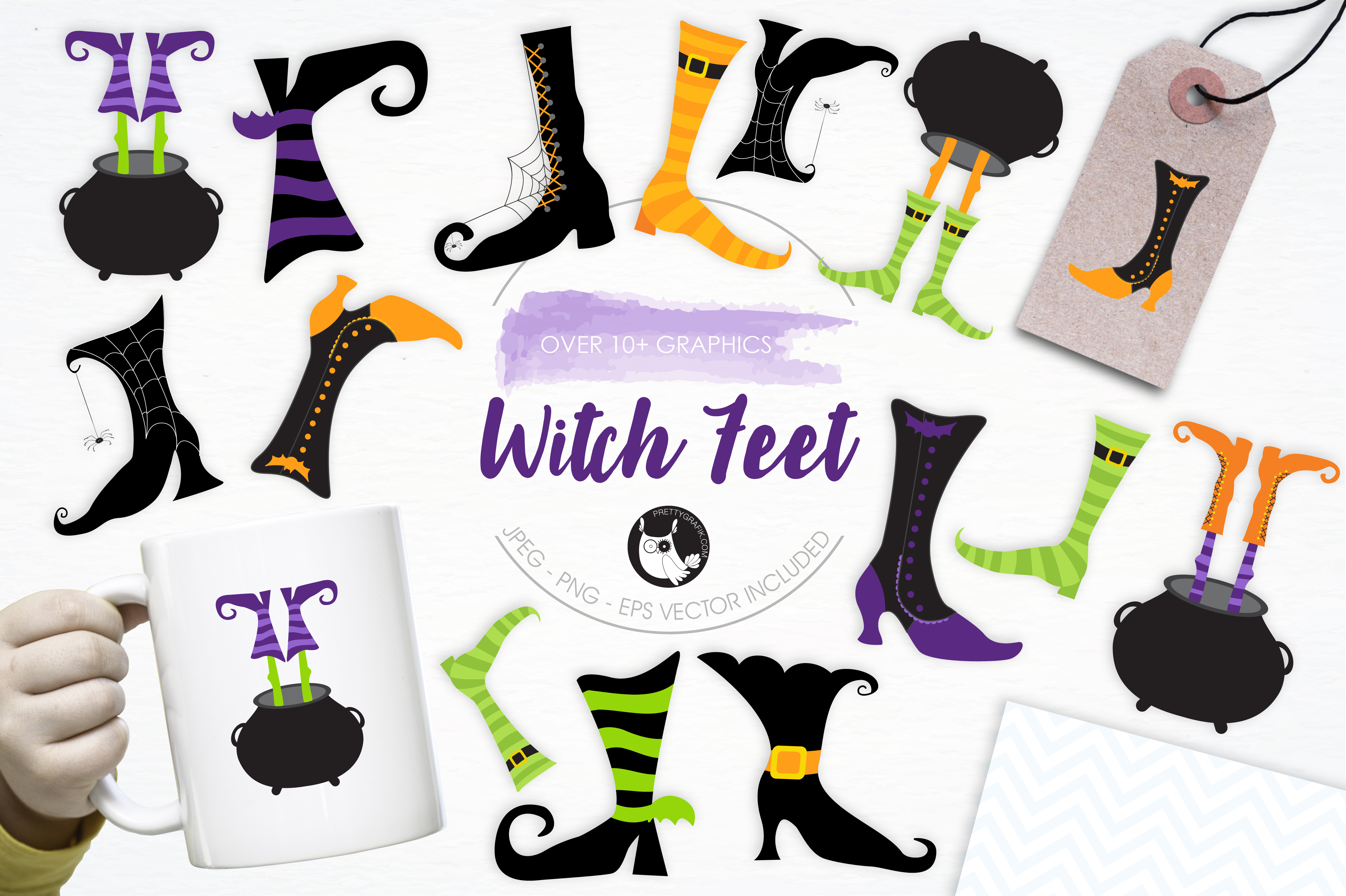 Print on Demand: Witch Feet Graphic Illustrations By Prettygrafik
