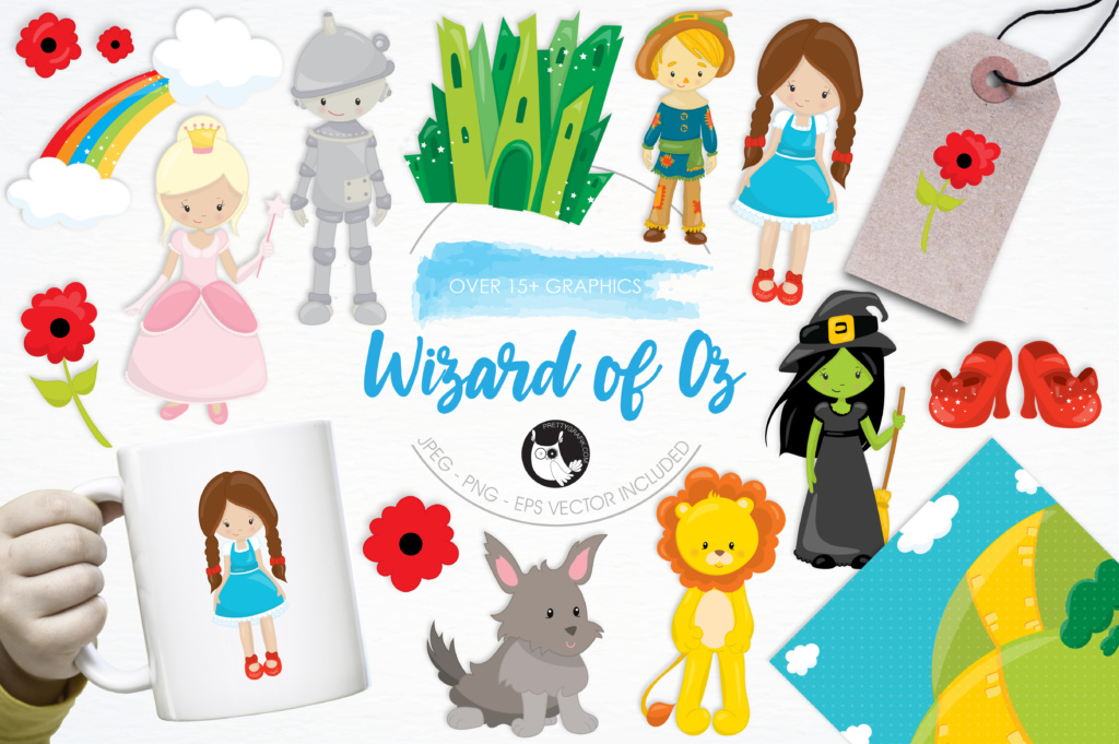 Download Free 15 Wizard Of Oz Graphic By Prettygrafik Creative Fabrica for Cricut Explore, Silhouette and other cutting machines.