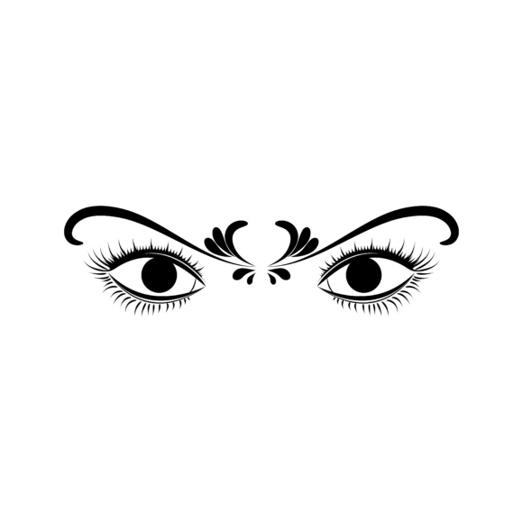 Print on Demand: Woman's Eyes Graphic Illustrations By sabavector