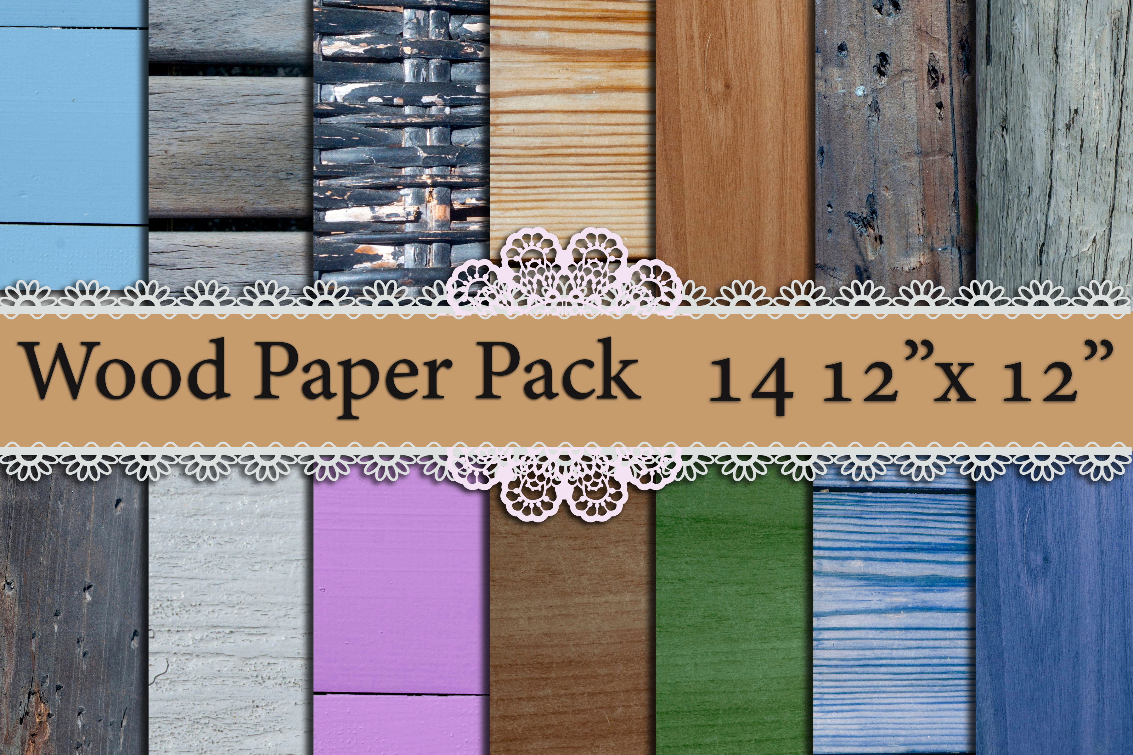 Wood Digital Paper Pack: Graphic Backgrounds By prettydesignstudio
