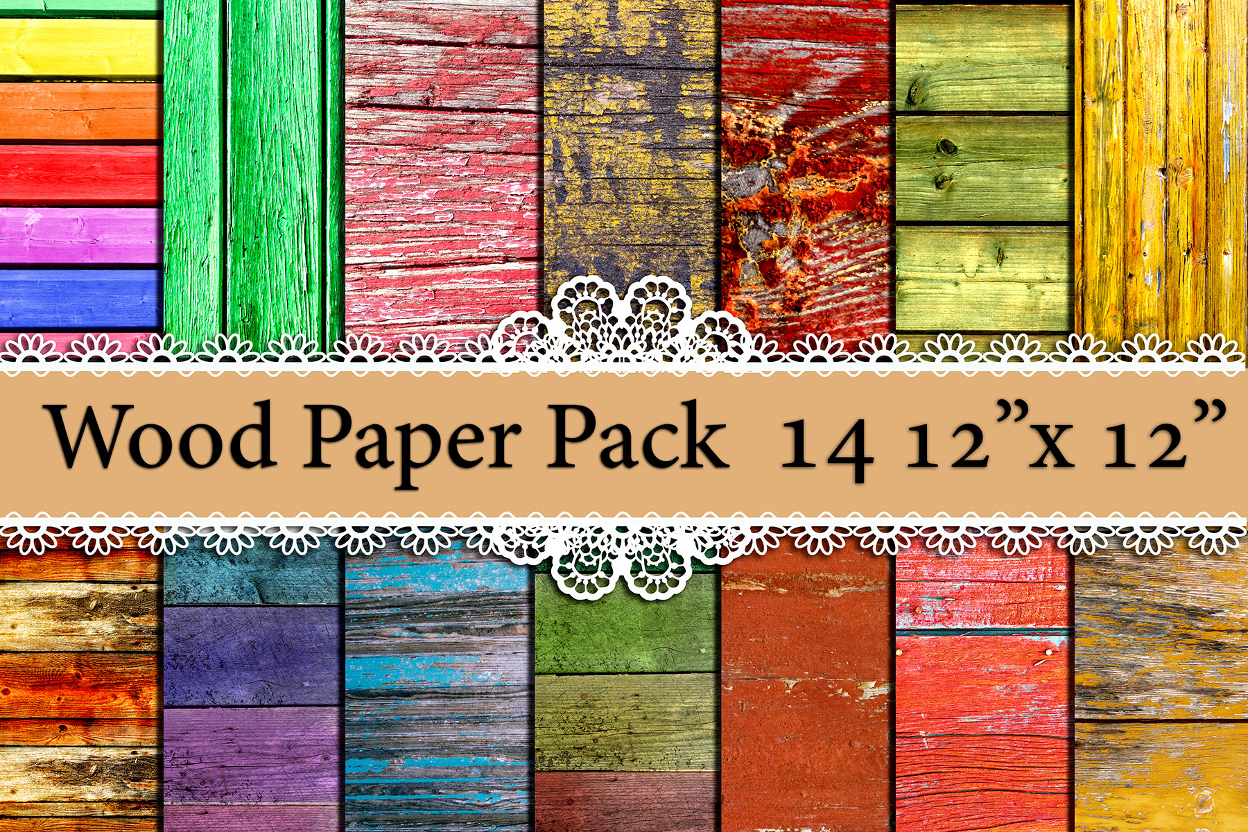 Wood Digital Paper Pack: Graphic By prettydesignstudio