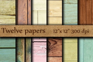 Wood Digital Papers Graphic Backgrounds By twelvepapers