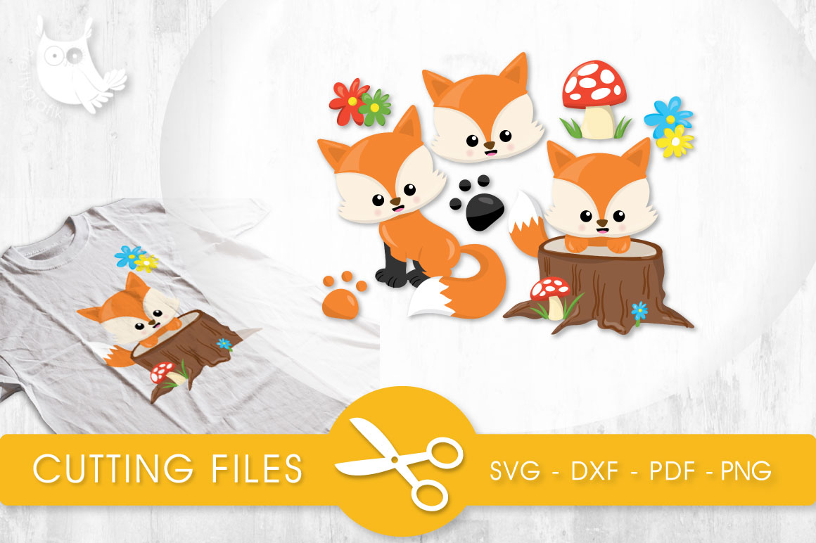 Woodland Foxes Graphic Crafts By PrettyCuttables