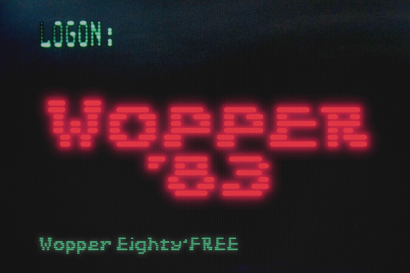 Print on Demand: Wopper '83 Display Font By Jvne77