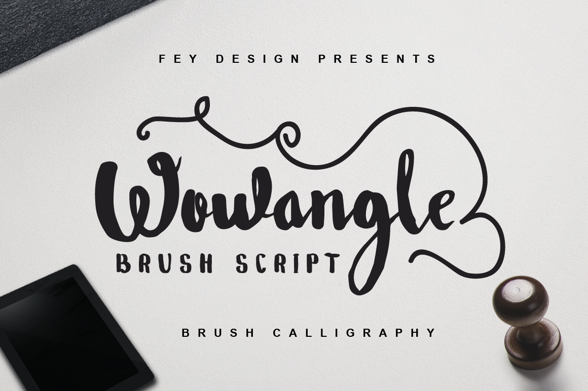 Print on Demand: Wowangle Script & Handwritten Font By feydesign