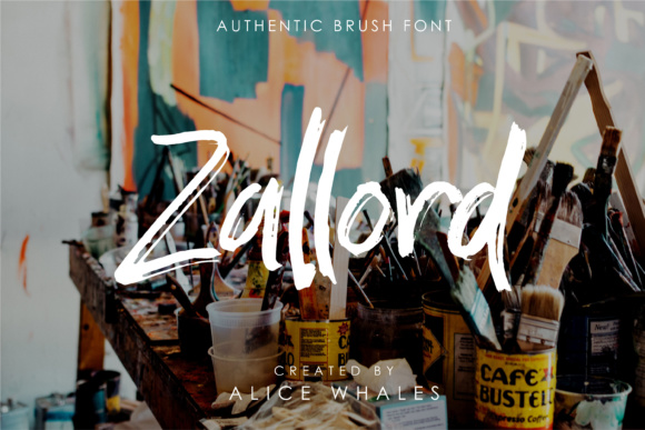 Print on Demand: Zallord Script & Handwritten Font By NendesKombet