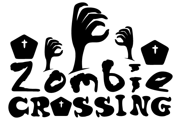 Zombie Crossing Craft Design By Creative Fabrica Crafts Image 1