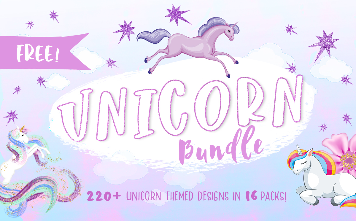 The Free Unicorn Bundle Bundle Creative Fabrica