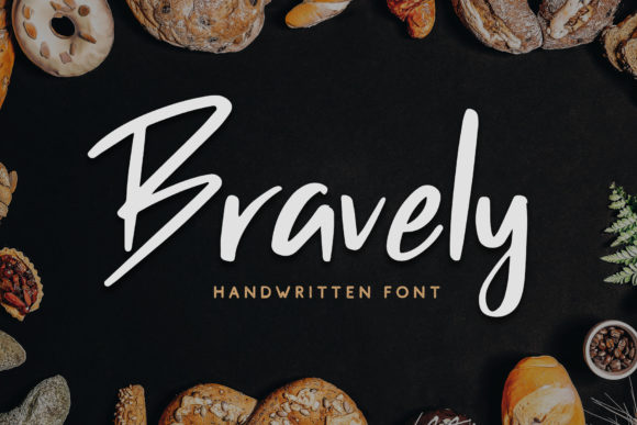 Print on Demand: Bravely Script & Handwritten Font By craftsupplyco