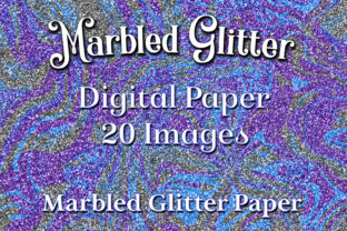 Download Free Marbled Glitter 20 Digital Paper Background Images Graphic By for Cricut Explore, Silhouette and other cutting machines.