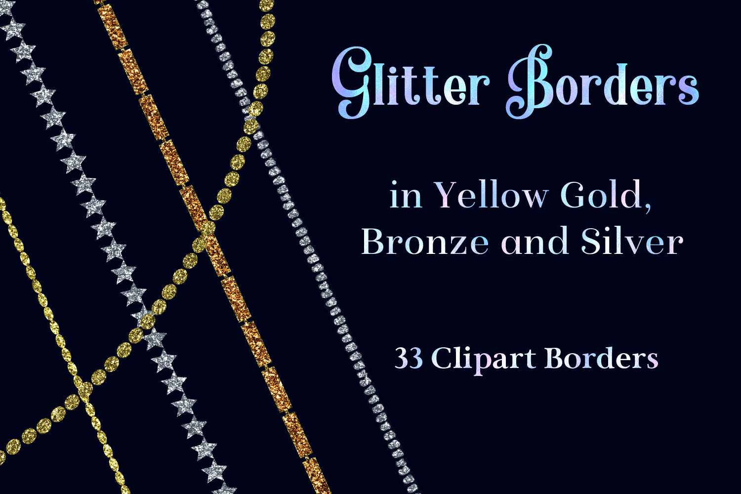 Download Free Glitter Borders In Yellow Gold Bronze And Silver 33 Clipart Borders Graphic By Sapphirexdesigns Creative Fabrica SVG Cut Files