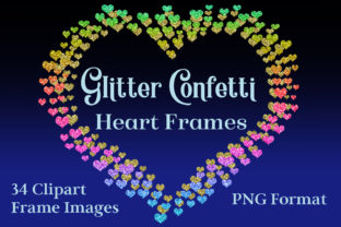 Glitter Confetti Heart Frames Graphic By SapphireXDesigns