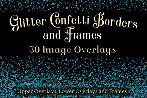Download Free Glitter Confetti Borders And Frames Graphic By Sapphirexdesigns for Cricut Explore, Silhouette and other cutting machines.