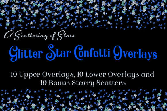 Print on Demand: Glitter Star Confetti Overlays - a Scattering of Stars Graphic Objects By SapphireXDesigns