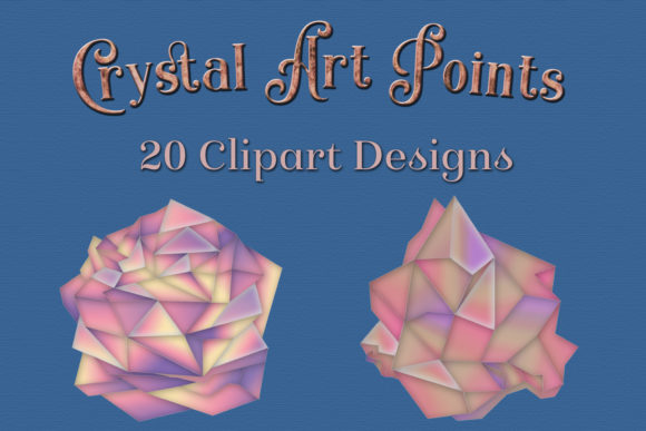Print on Demand: Crystal Art Points Clipart Designs Graphic Objects By SapphireXDesigns