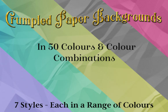 Print on Demand: Crumpled Paper Backgrounds - 50 Image Set Graphic Backgrounds By SapphireXDesigns
