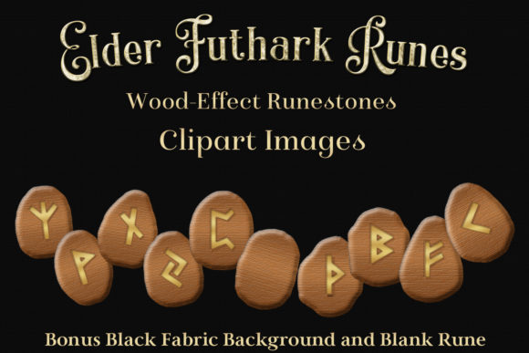 Download Free Elder Futhark Runes Clipart Wooden Runestones Graphic By for Cricut Explore, Silhouette and other cutting machines.