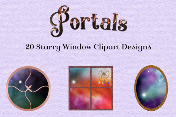 Print on Demand: Portals - 20 Starry Window Clipart Designs Graphic Objects By SapphireXDesigns