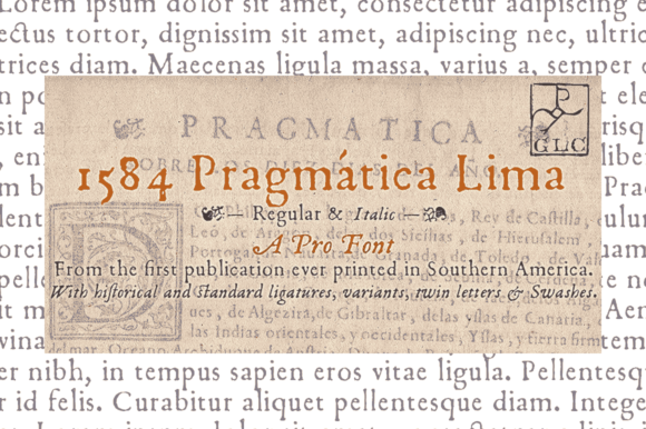 Print on Demand: 1584 Pragmatica Lima Serif Font By GLC Foundry