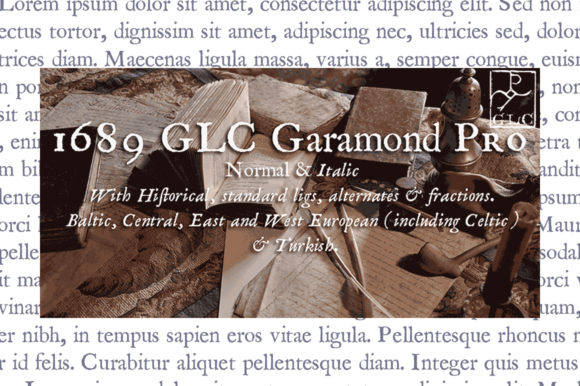 Print on Demand: 1689 GLC Garamond Pro Serif Font By GLC Foundry