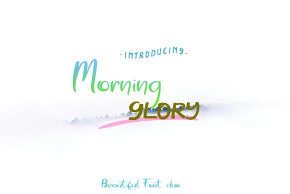 Print on Demand: Morning Glory Script & Handwritten Font By dmletter31