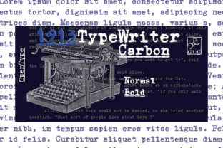 1913 Typewriter Carbon Font By GLC Foundry