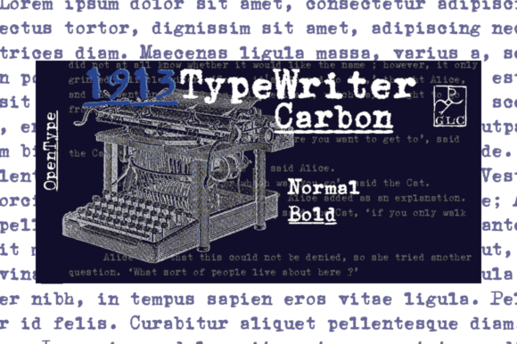 Print on Demand: 1913 Typewriter Carbon Slab Serif Font By GLC Foundry