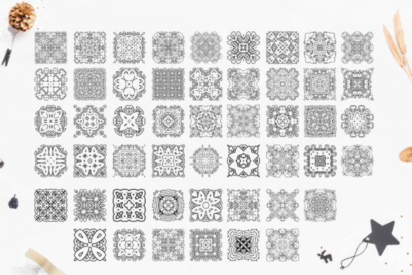 280 Ethnic MANDALAS Square and Round Graphic By tregubova.jul Image 6