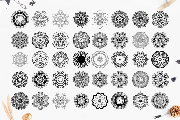 280 Ethnic MANDALAS Square and Round Graphic By tregubova.jul Image 9