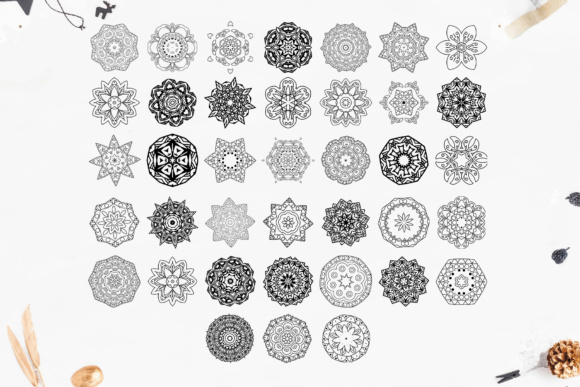 280 Ethnic MANDALAS Square and Round Graphic By tregubova.jul Image 10