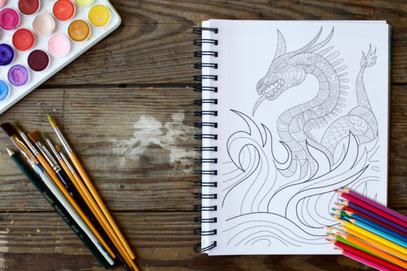 30 Dragons Adult Coloring Pages Instant Download, Coloring Book for Adults Graphic Coloring Pages & Books Adults By ColoringBooks101 - Image 3