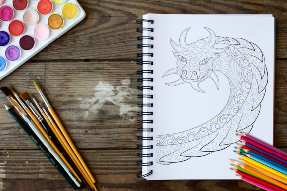 30 Dragons Adult Coloring Pages Instant Download, Coloring Book for Adults Graphic Coloring Pages & Books Adults By ColoringBooks101 - Image 4