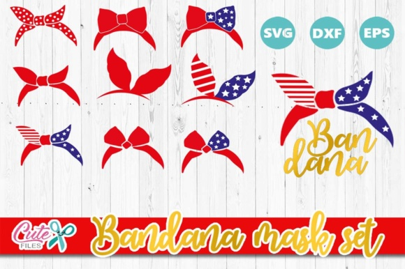 4th of July Bandana Cut Files Graphic Crafts By Cute files