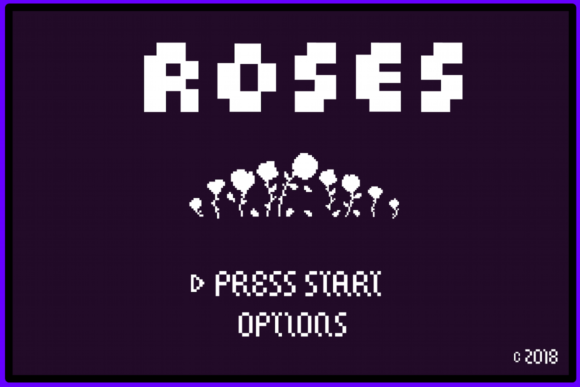 Print on Demand: 8 Bit Roses Display Font By Noah Kinard