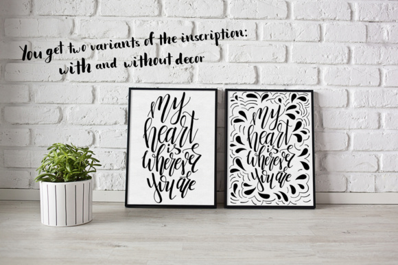 Download Free 9 Hand Lettering Quotes About Love Graphic By Tregubova Jul for Cricut Explore, Silhouette and other cutting machines.
