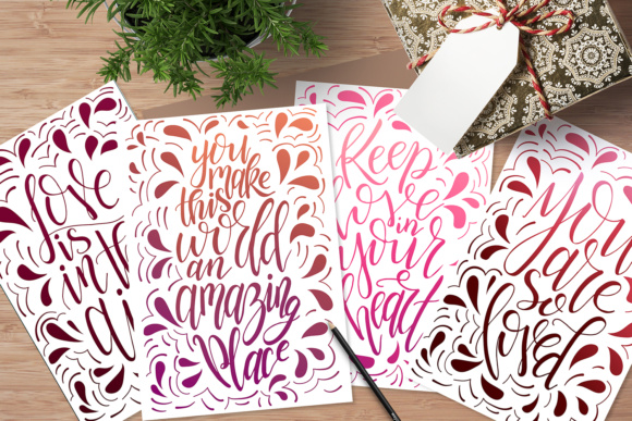 9 Hand Lettering Quotes About Love Graphic By tregubova.jul Image 5